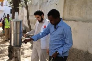 Abdallah Taha from DWW Turkey Visiting SOYDA Nutrition centers in Mogadishu